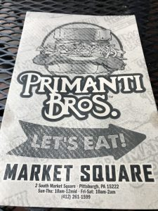 Primanti Bros - Menu